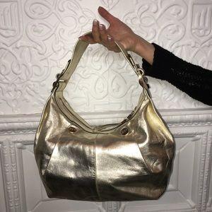 AUTHENTIC Roger Vivier Gold Leather Handbag
